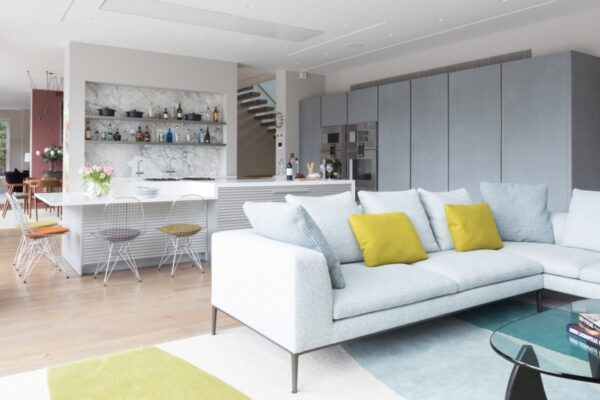 White living room in a modern style