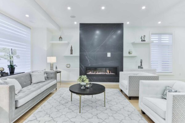 white and grey living room furniture
