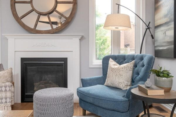 cozy english armchair